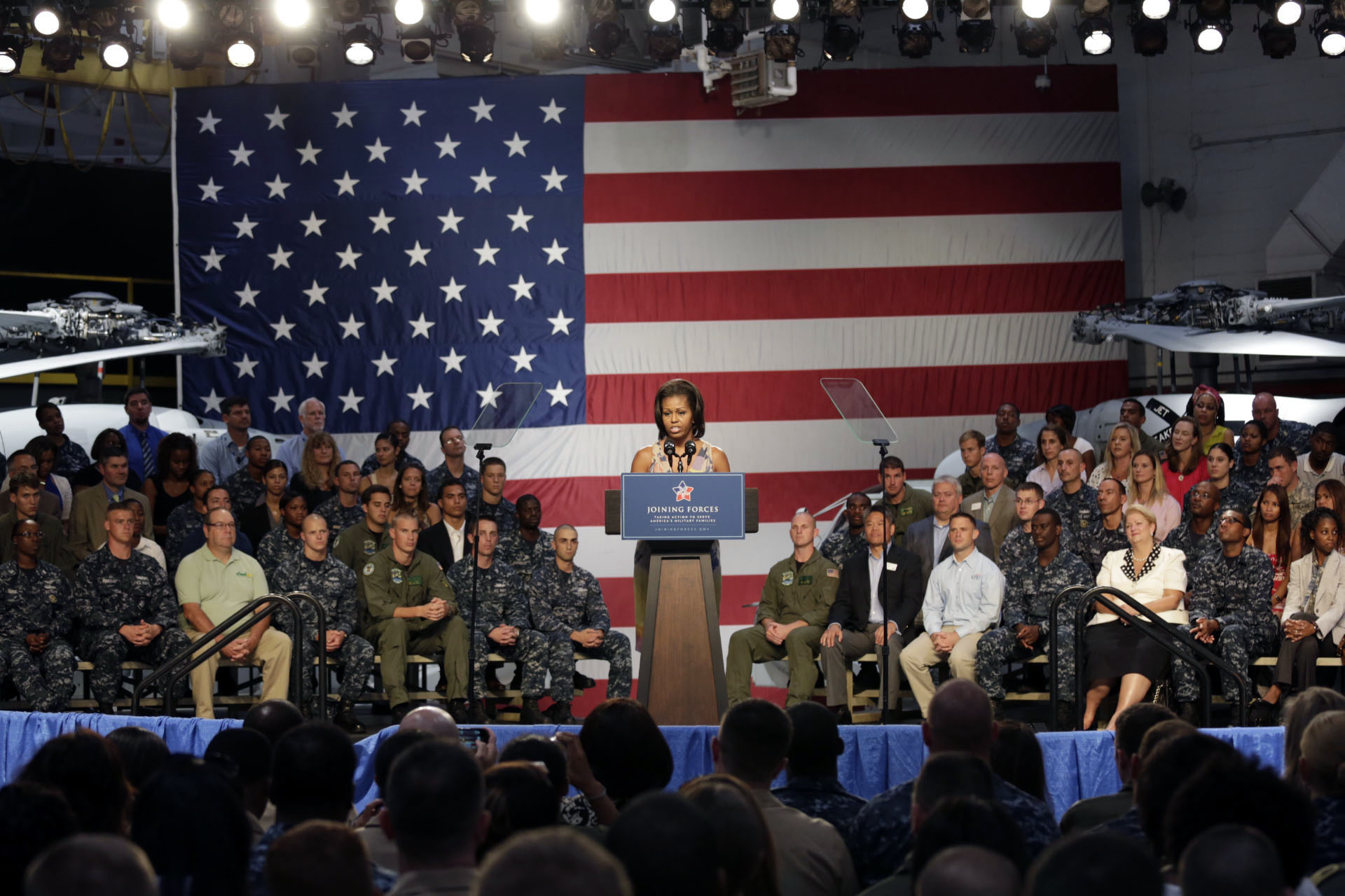 First Lady Michelle Obama delivers remarks during a Joining Forces event (August 22, 2012)