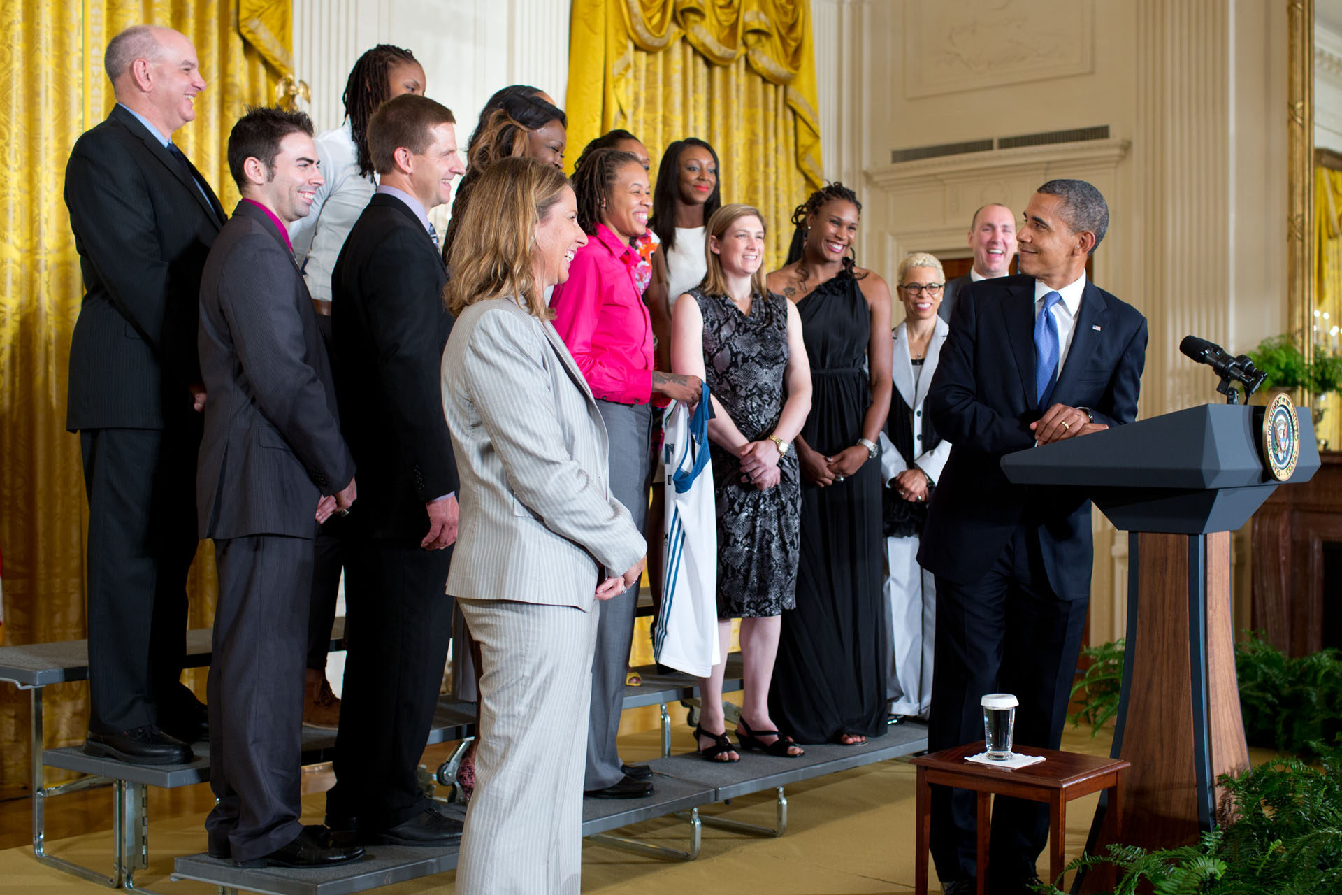 President Obama welcomes Coach Cheryl Reeve and the WNBA Champion Minnesota Lynx to the White House (September 18, 2012)