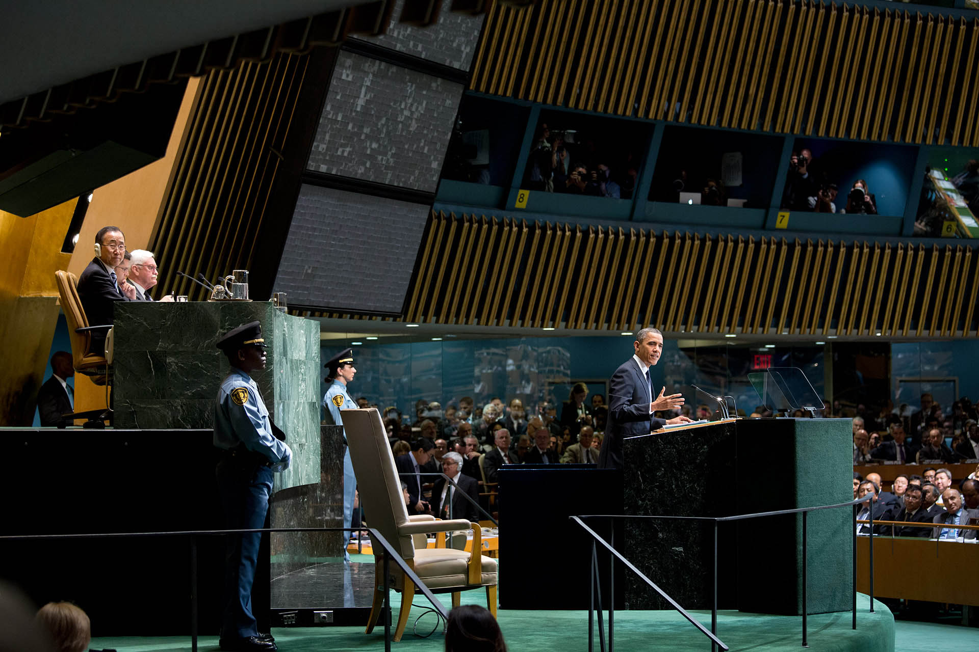 President Barack Obama addresses the United Nations General Assembly (September 25, 2012)