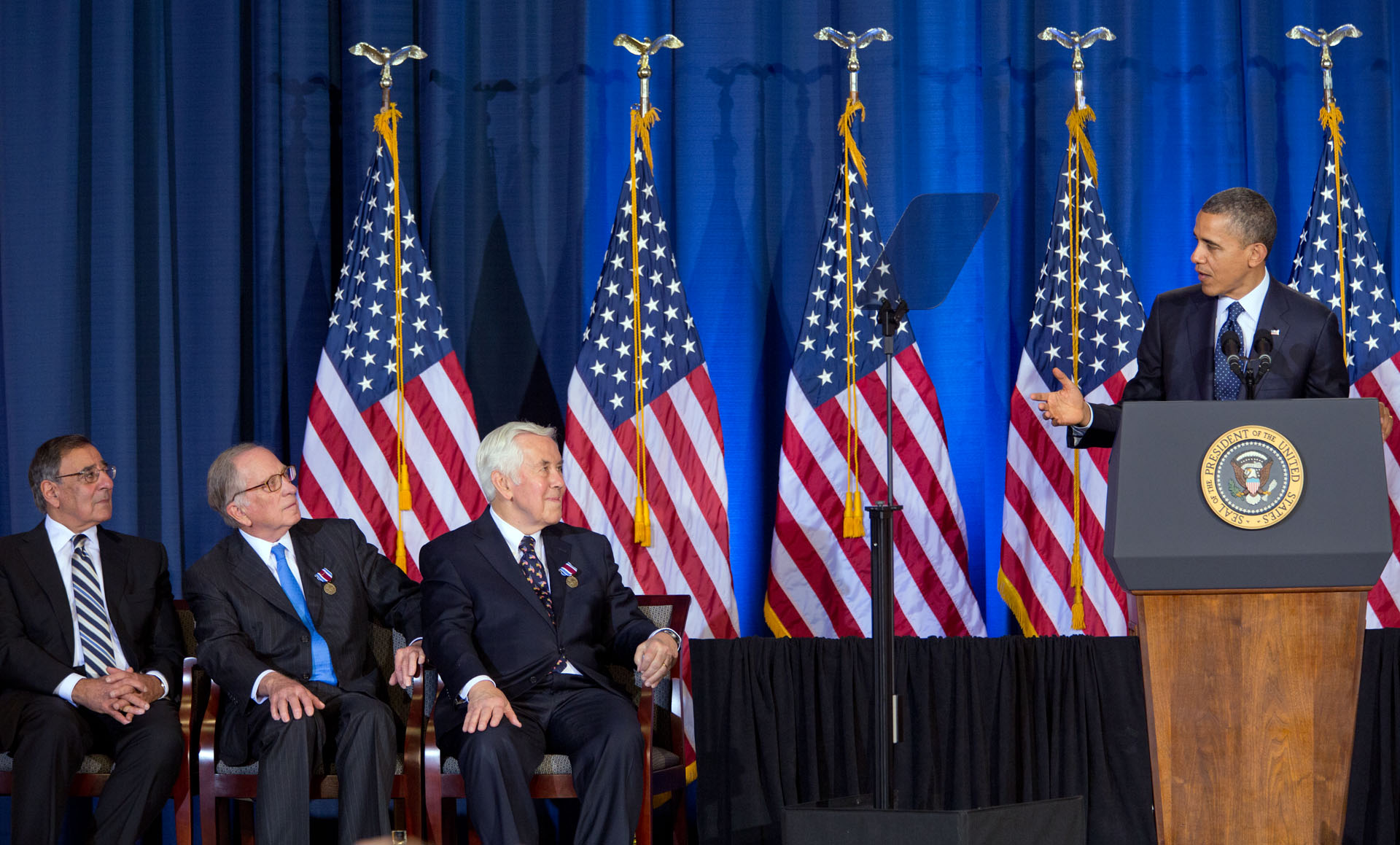 President Barack Obama delivers remarks to the Nunn-Lugar Cooperative Threat Reduction symposium (December 3, 2012)