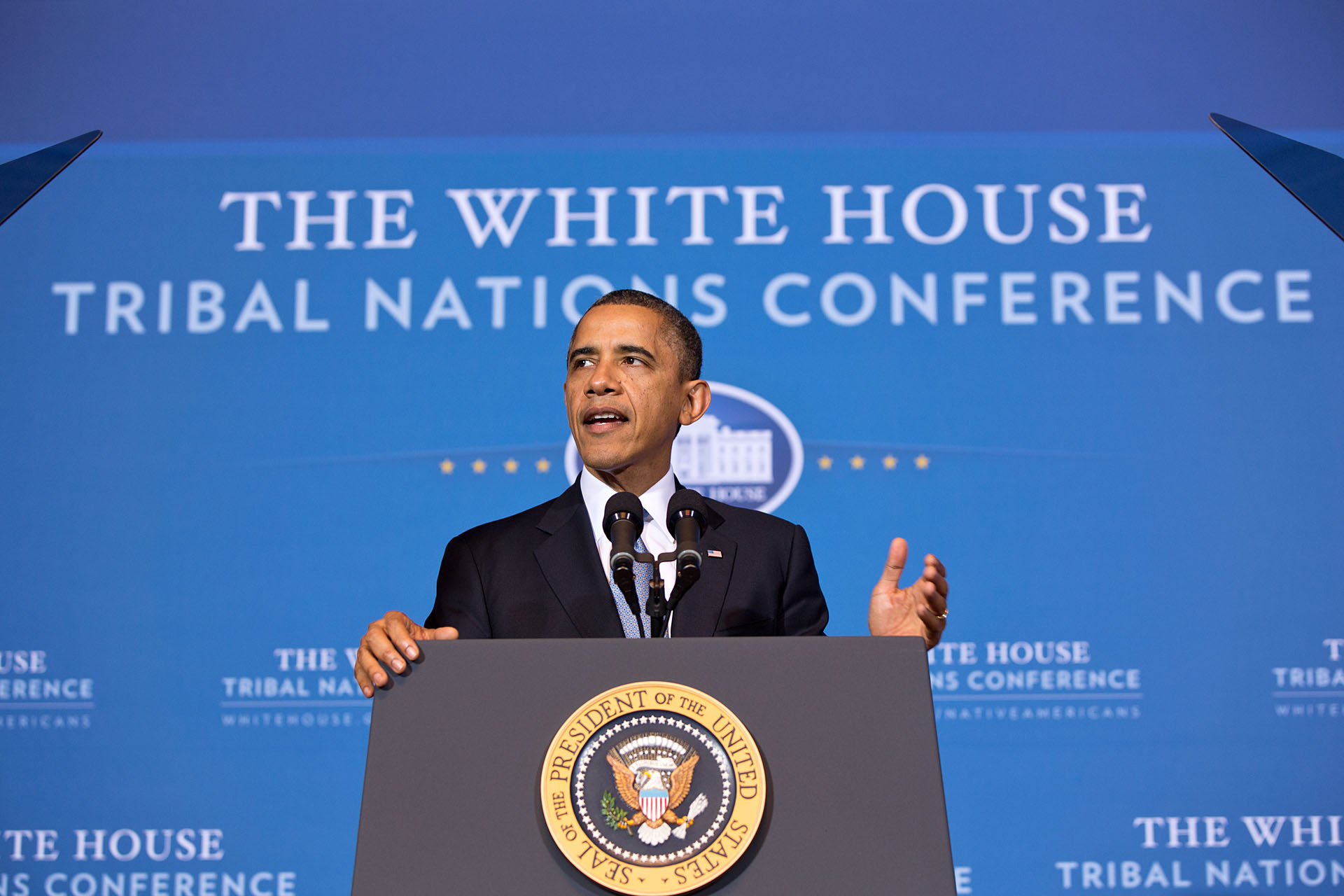 President Barack Obama delivers remarks during the White House Tribal Nations Conference (December 5, 2012)
