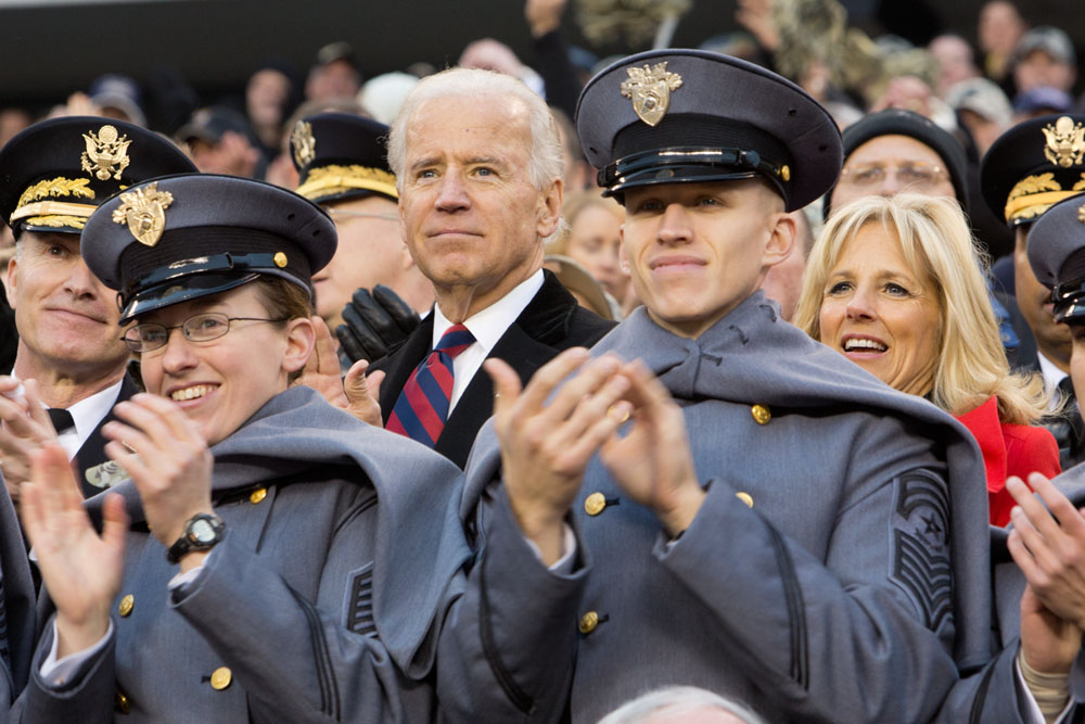 Vice President Joe Biden and Dr. Jill Biden attend the 113th Army-Navy football game at Lincoln Financial Field (December 8, 2012)
