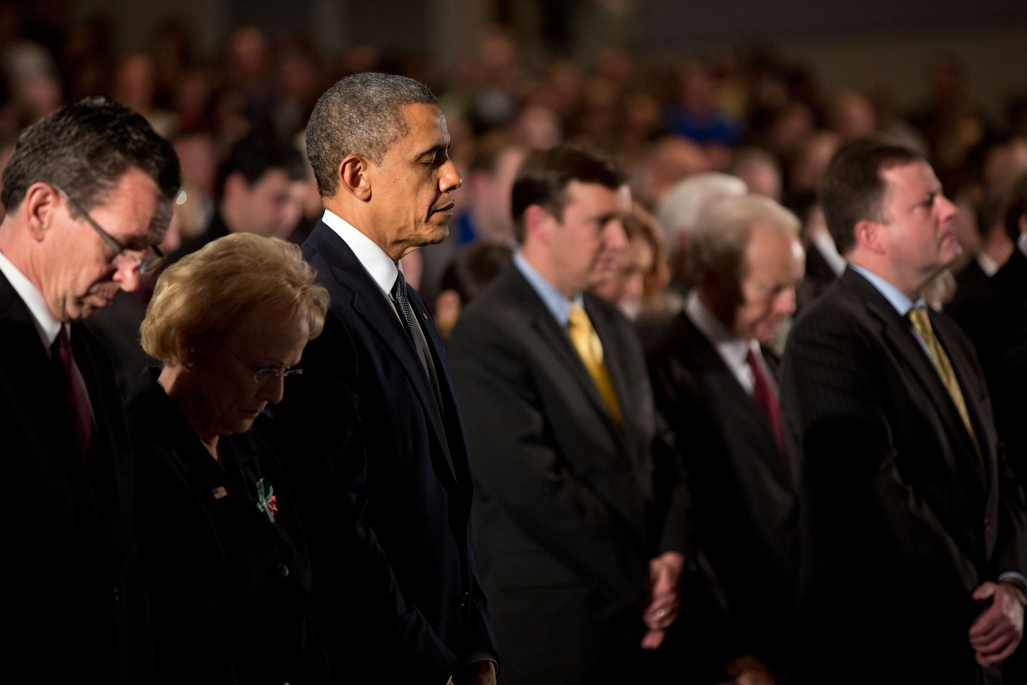 President Barack Obama attends the Sandy Hook interfaith vigil (December 16, 2012)