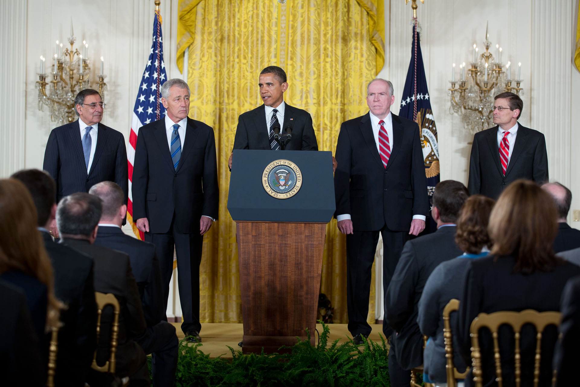 President Obama announces Chuck Hagel as his nominee for Secretary of Defense (January 7, 2013)