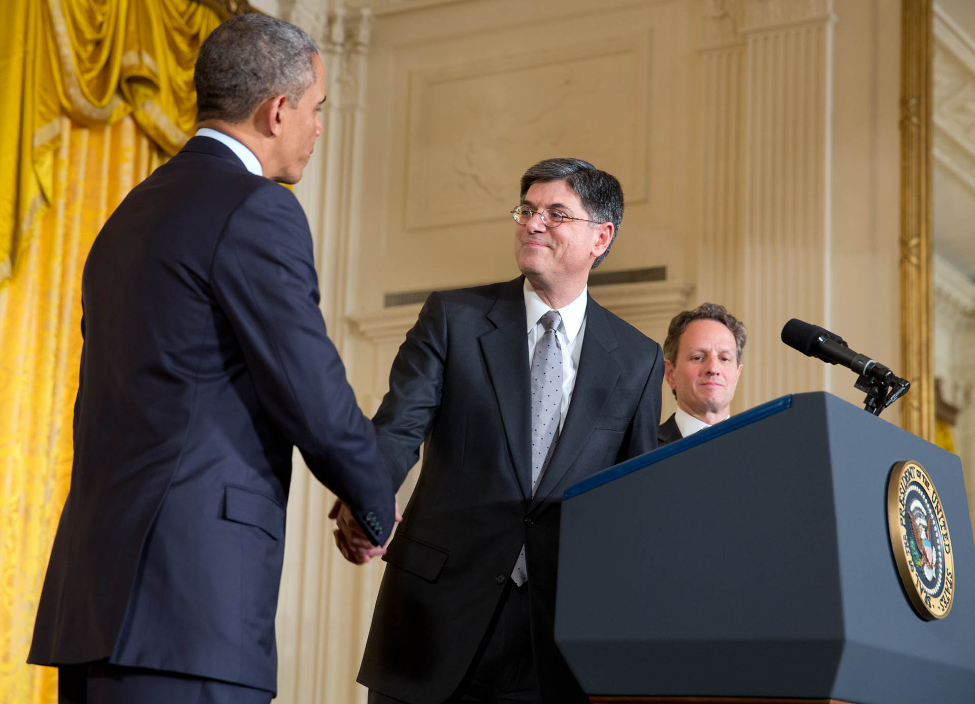 President Barack Obama announces Chief of Staff Jack Lew is his nominee for Treasury Secretary (January 10, 2013)