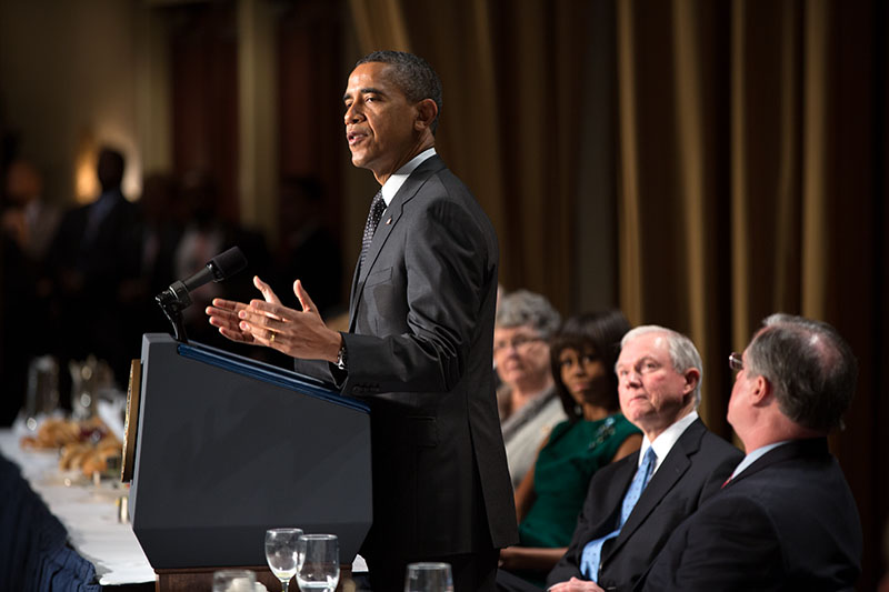 President Obama addresses the National Prayer Breakfast (February 7, 2013)