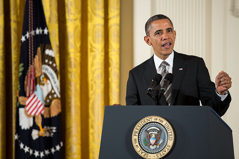 President Obama delivers remarks during the 2012 Presidential Citizens Medal ceremony (February 15, 2013)