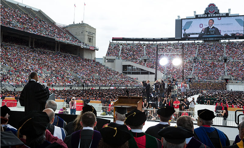 President Barack Obama delivers the commencement address during The Ohio State University (May 5, 2013)