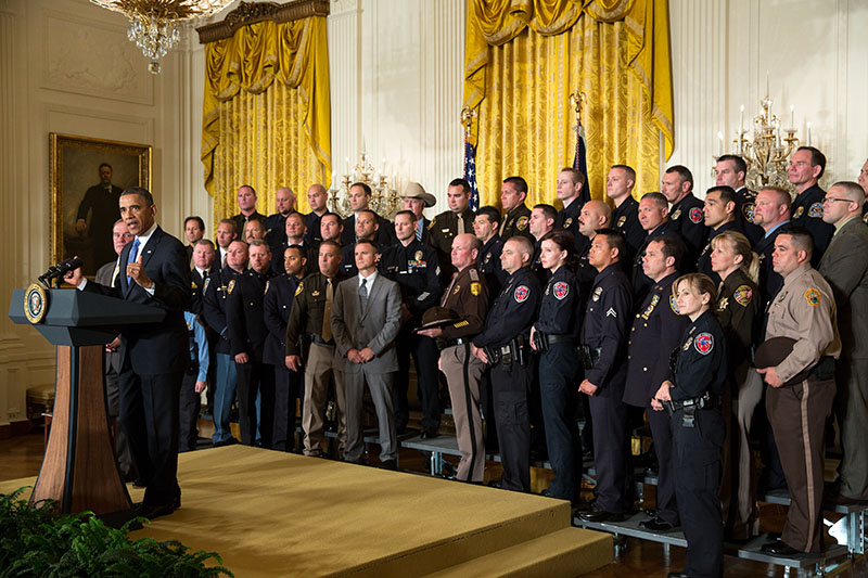President Barack Obama honors the 2013 National Association of Police Organizations TOP COP (May 11, 2013)
