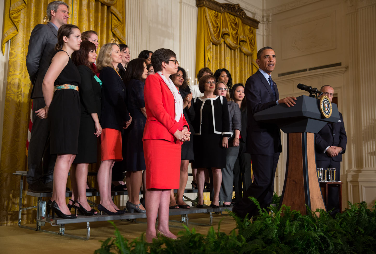 President Barack Obama delivers remarks commemorating the 50th anniversary of the Equal Pay Act (June 10, 2013)