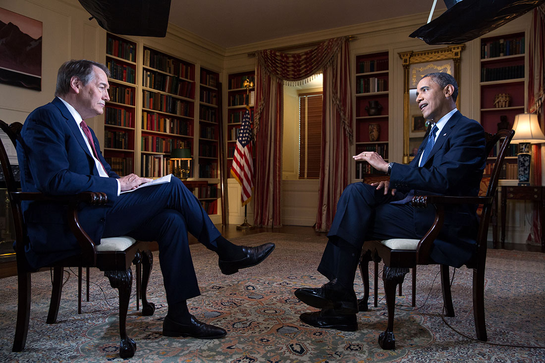 President Barack Obama participates in an interview with Charlie Rose (June 16, 2013)