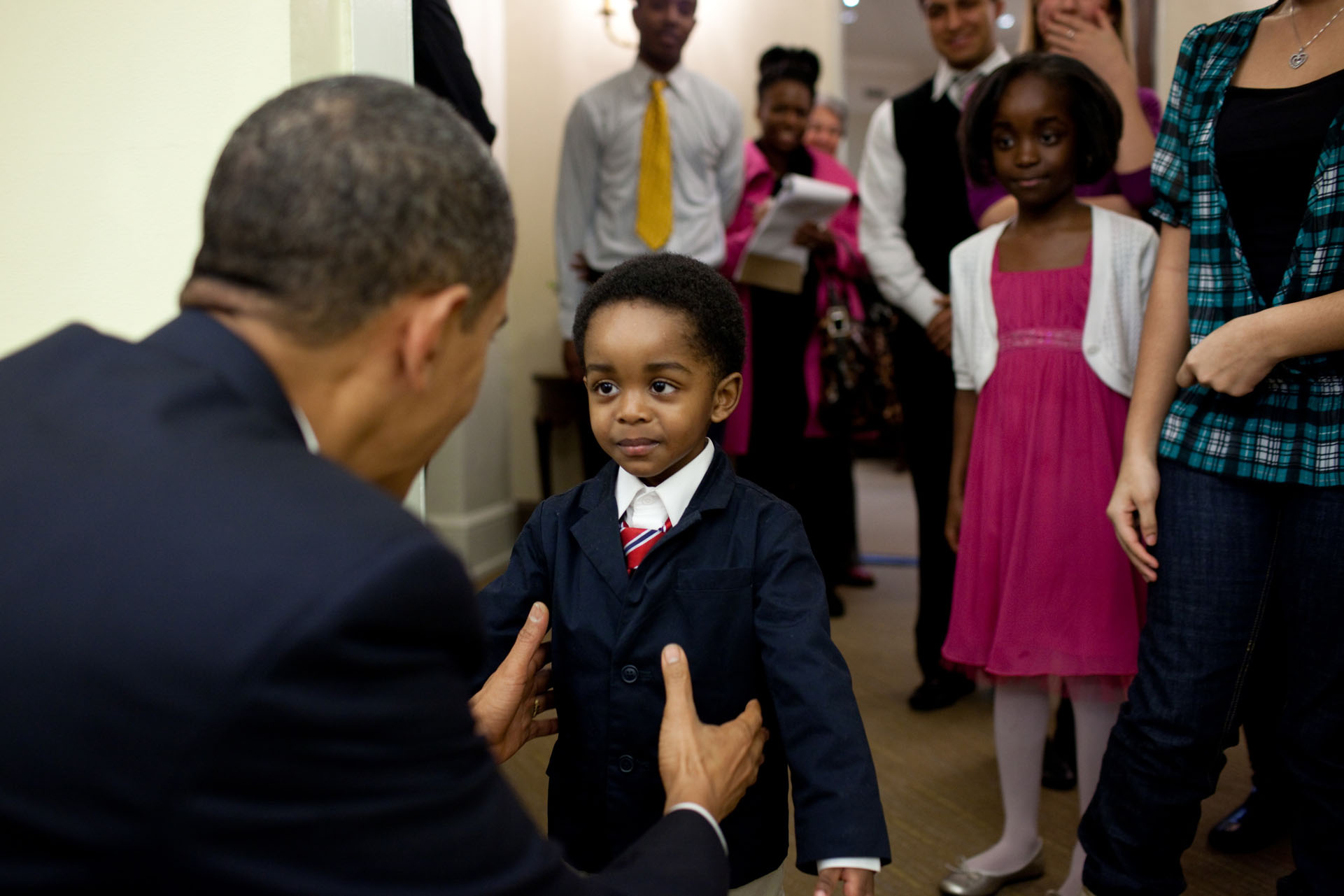 The President Greets a Young Visitor