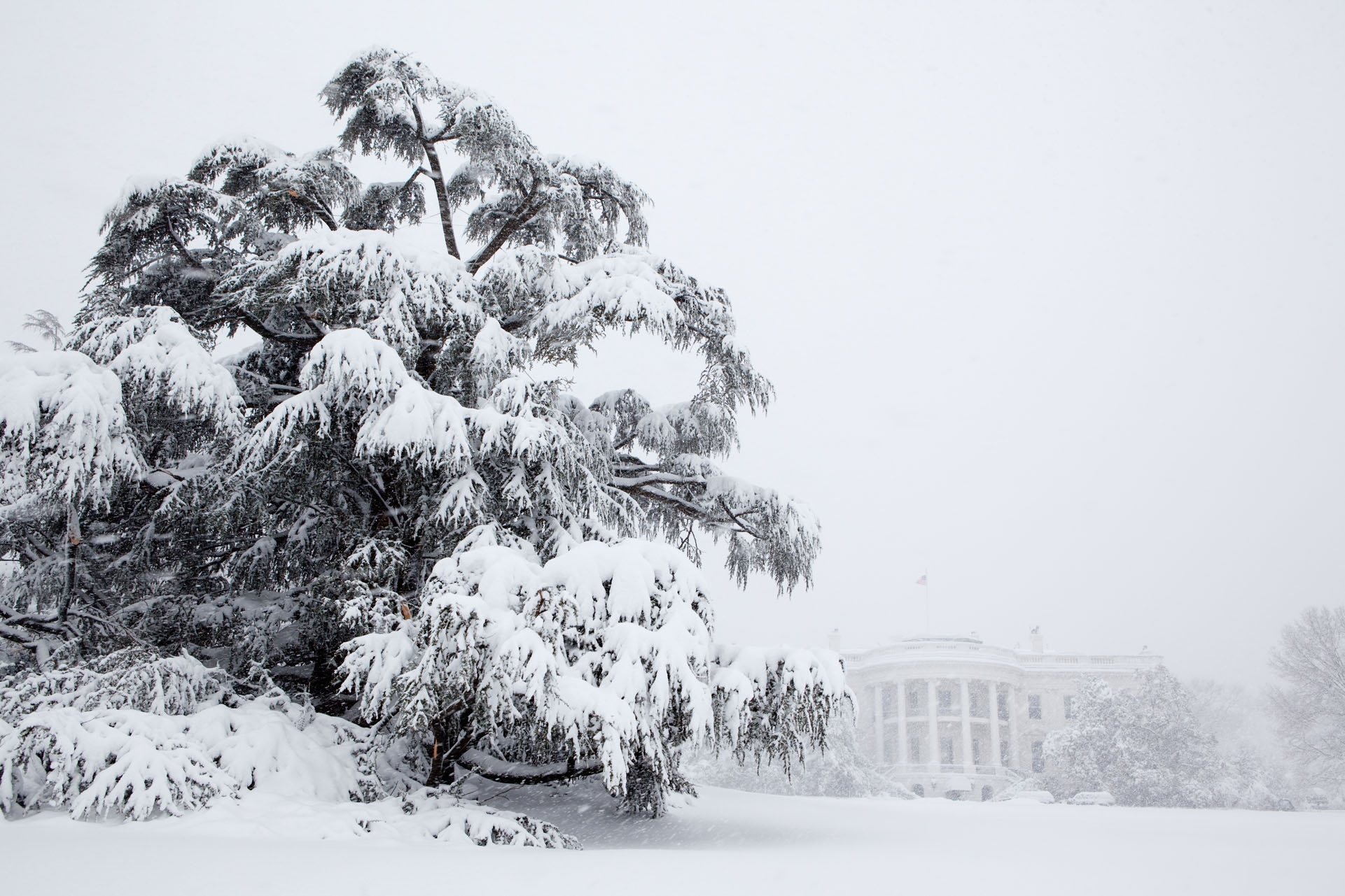 The White House is Blanketed in Snow