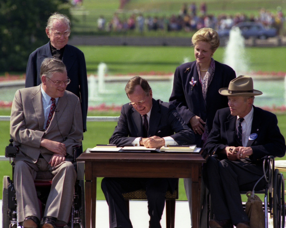 from the archives: a landmark moment for americans with disabilities