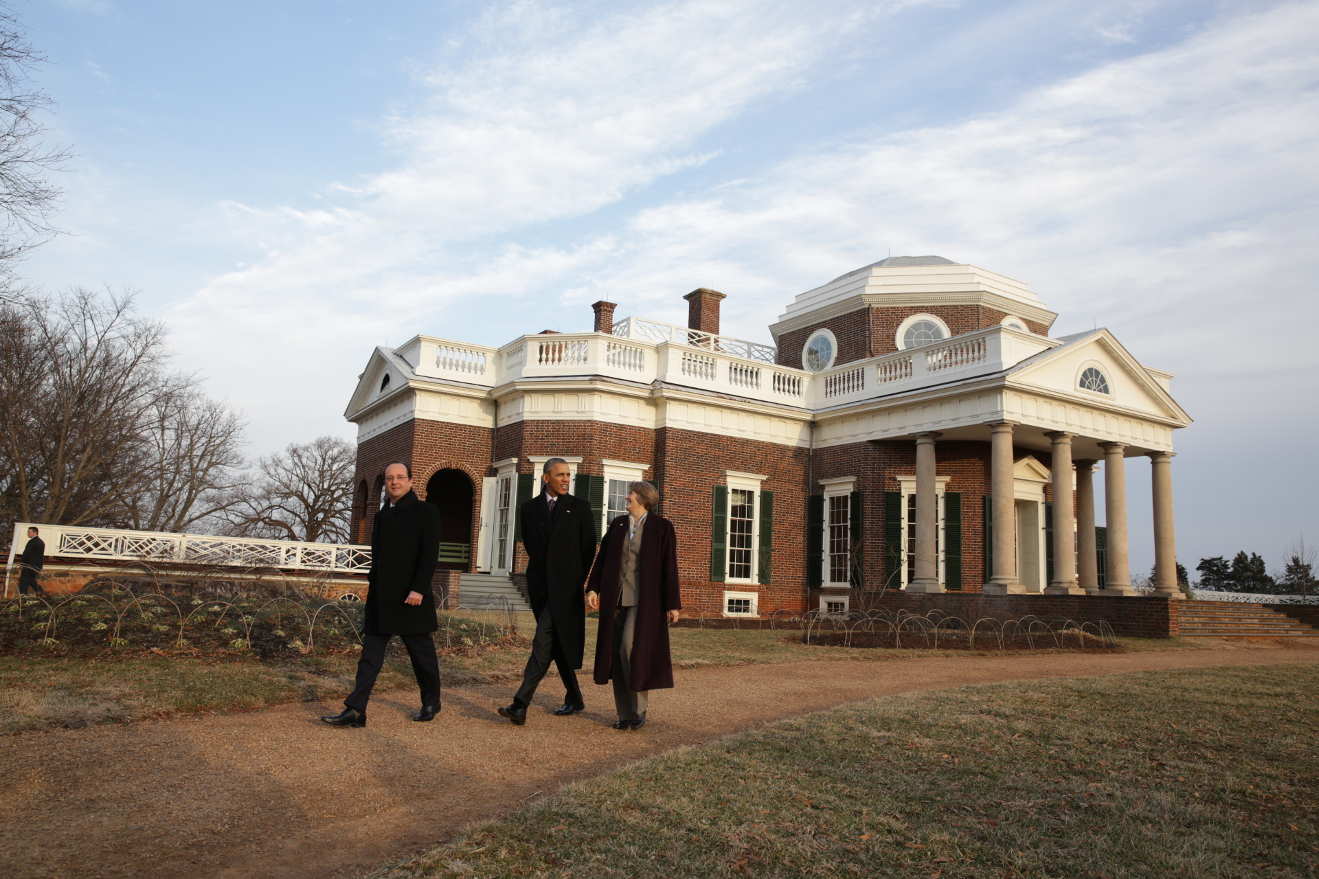 President Barack Obama and President François Hollande of France tour Monticello, the home of Thomas Jefferson in Charlottesville, Va.