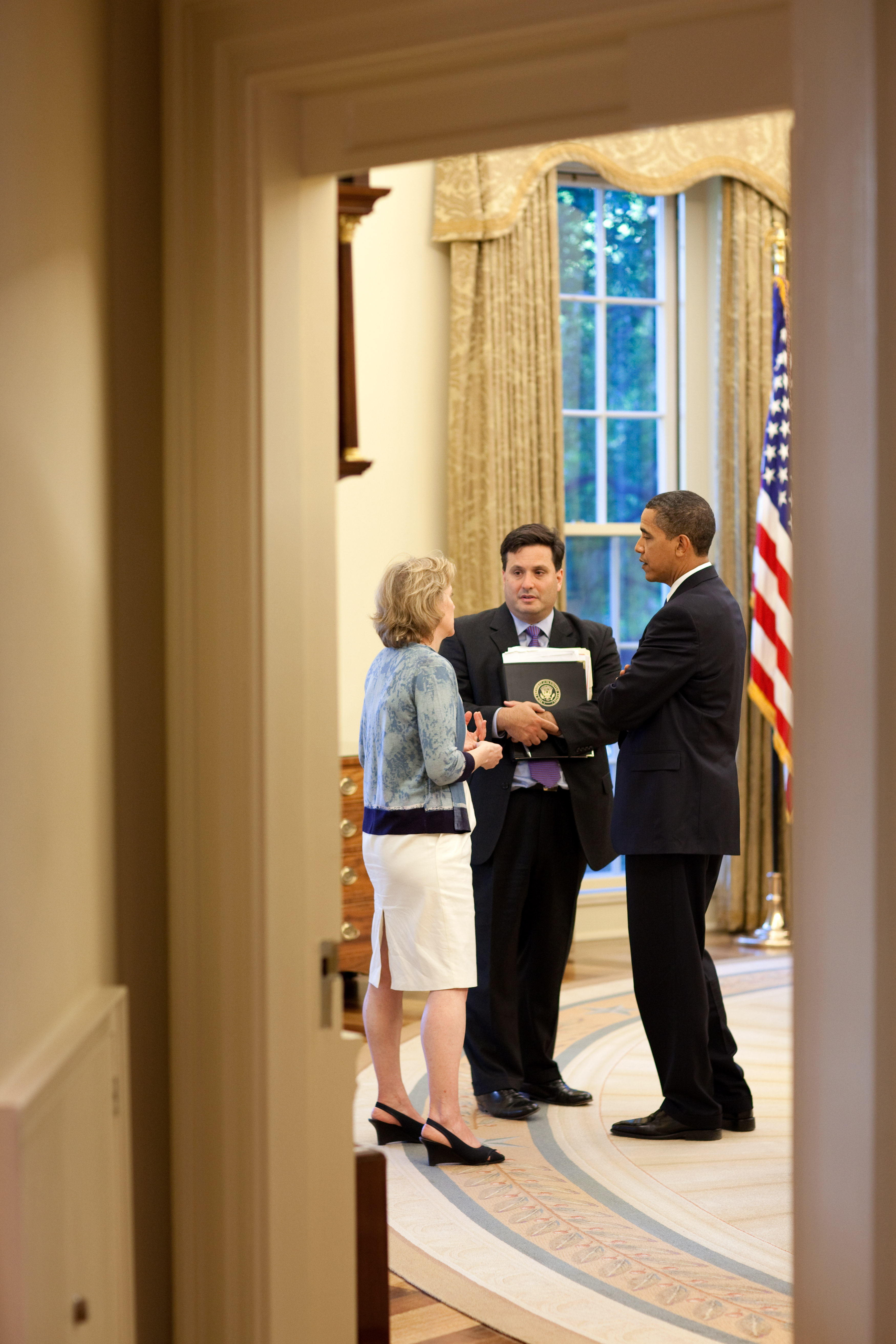 President Obama Meets with Ron Klain