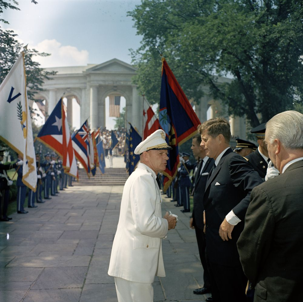 President Kennedy attends Memorial Day services