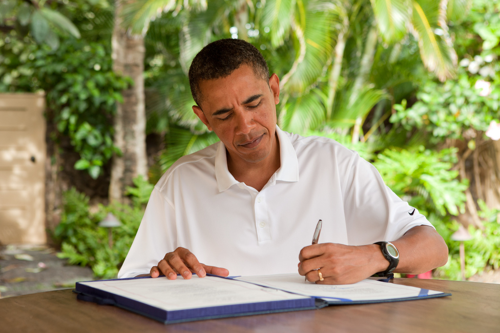 President Obama signs James Zadroga 9/11 Health and Compensation Act