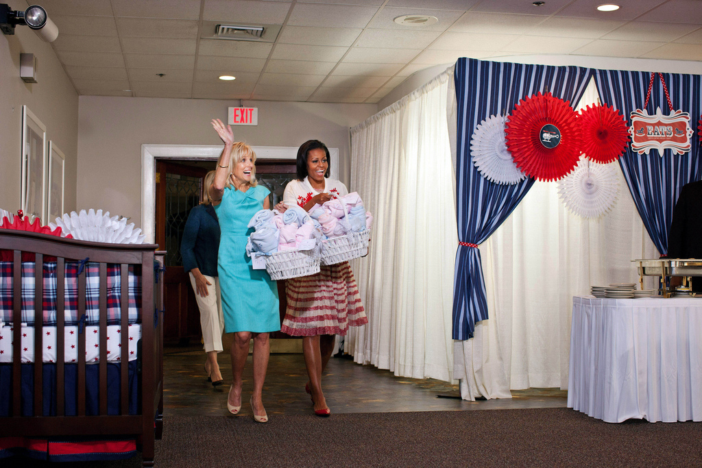 First Lady Michelle Obama, Dr. Jill Biden and Martha Stewart drop by Operation Shower