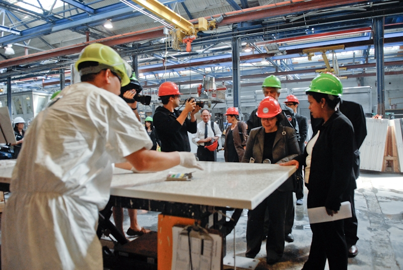 Nancy Sutley Tours IceStone