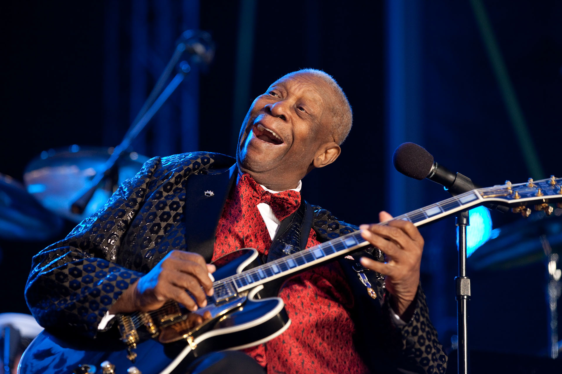 B.B. King Performs at the White House Christmas