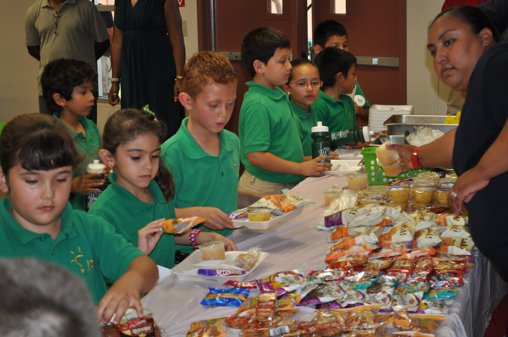 Children at the Basilica of Our Lady of San Juan Del Valle, TX