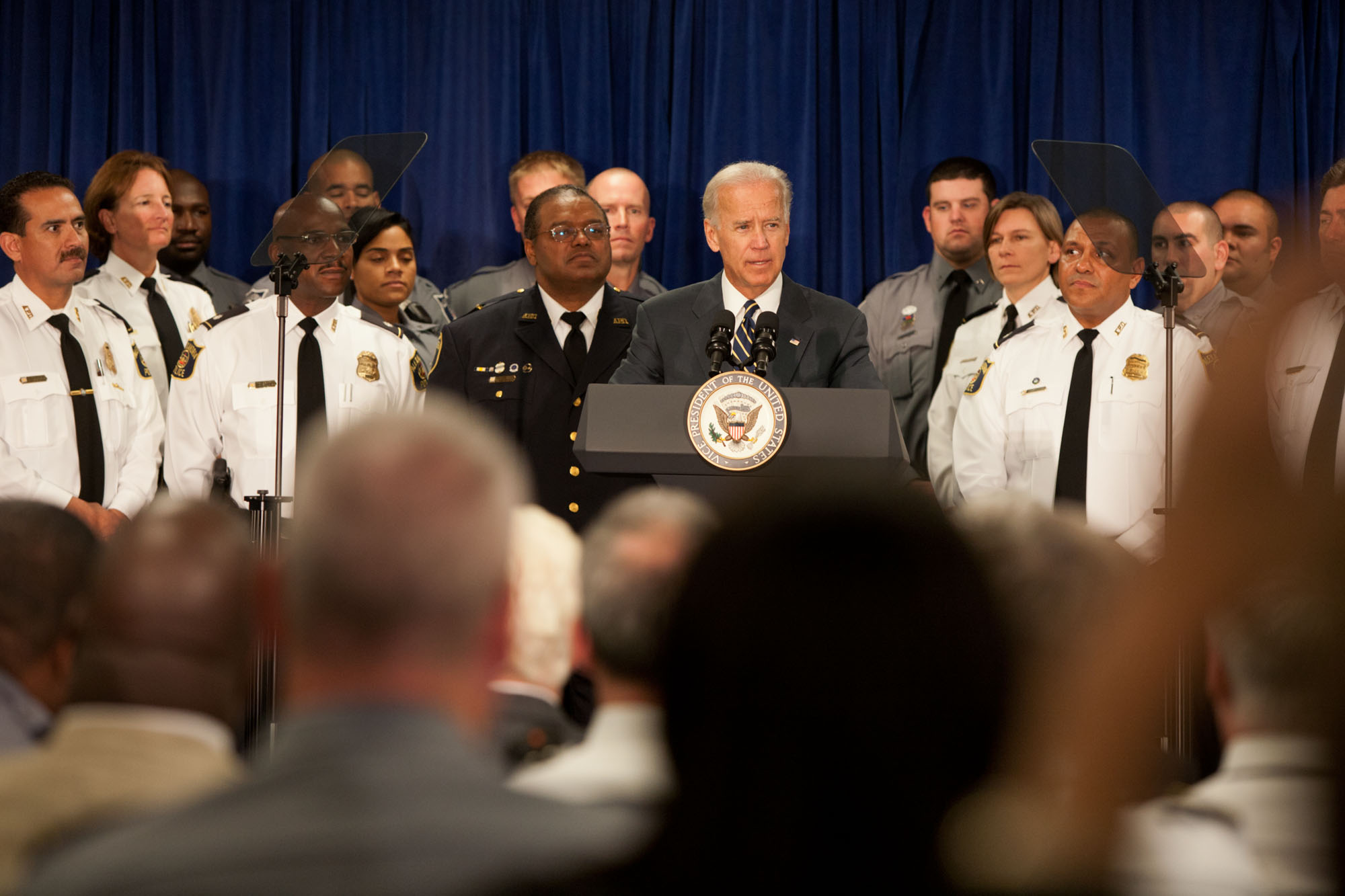 Vice President Biden on the American Jobs Act at the Alexandria Police Department