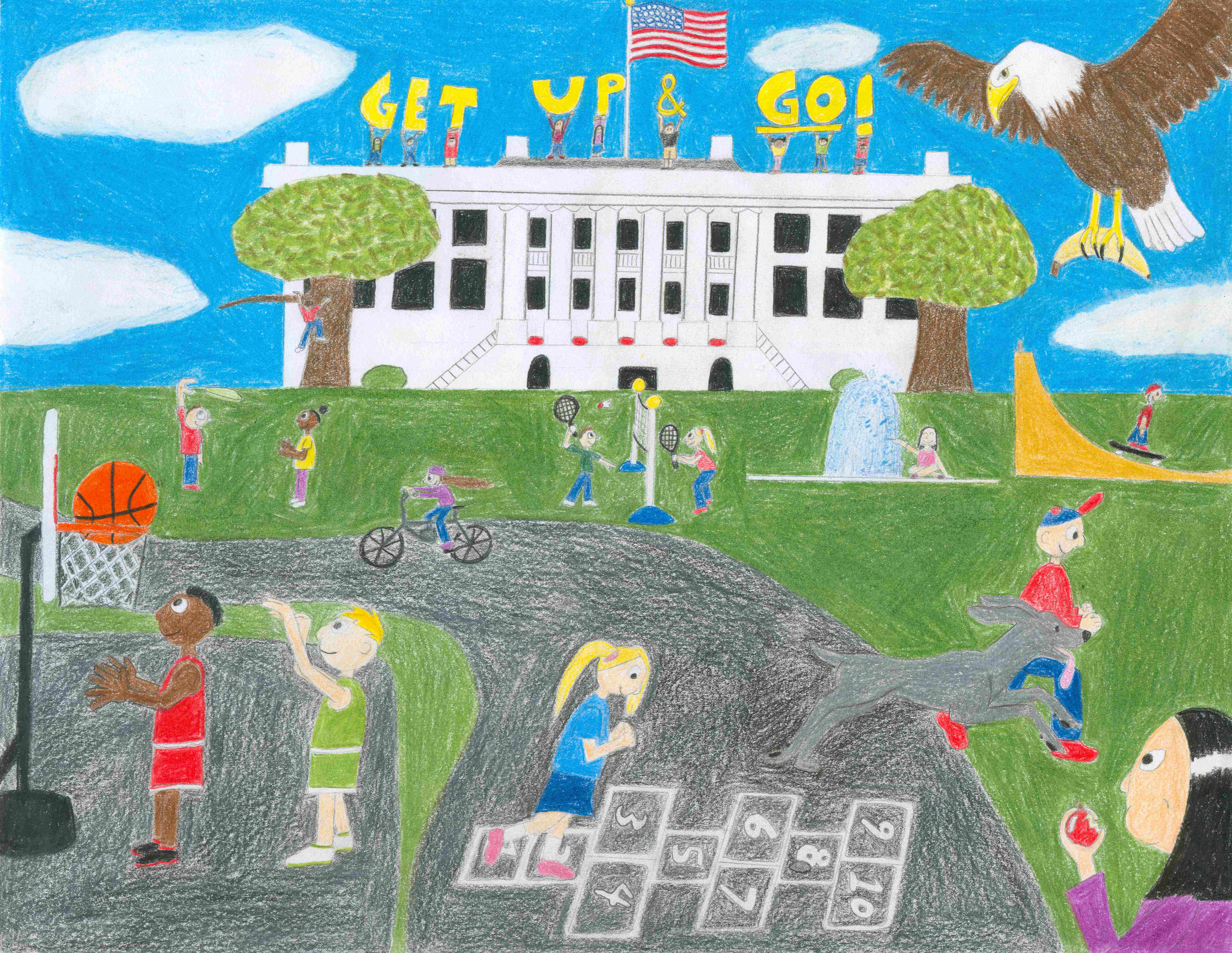 Easter Egg Roll cover artwork co-winner selected was created by Alyssa Pendergast