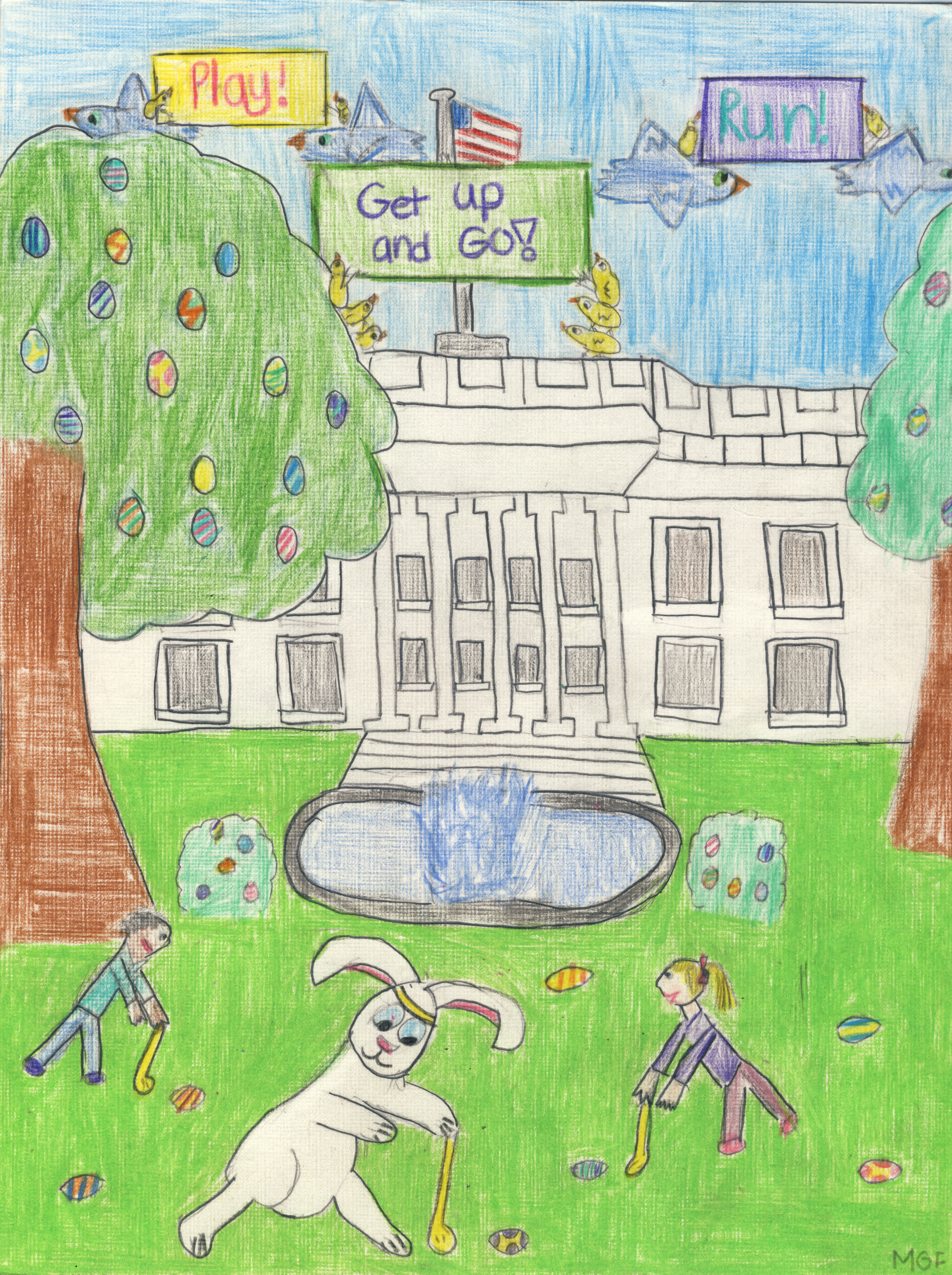 Easter Egg Roll cover artwork selected was created by Morgan Ferrans