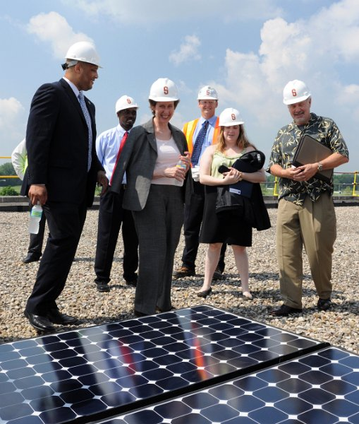 GSA Administrator Johnson and Solar Panels