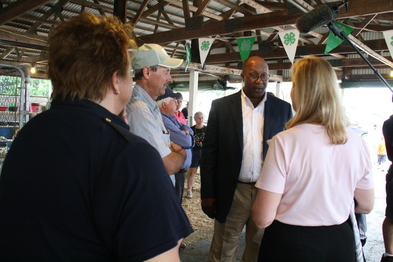 Ambassador Kirk speaks with Bangor State Fair Director
