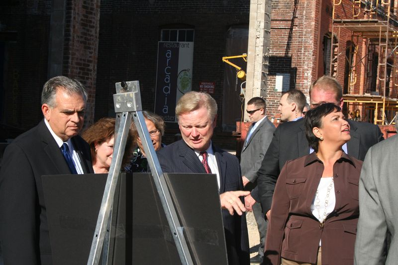 Secretary LaHood and Administrator Jackson tour Dubuque's Historic Millwork District
