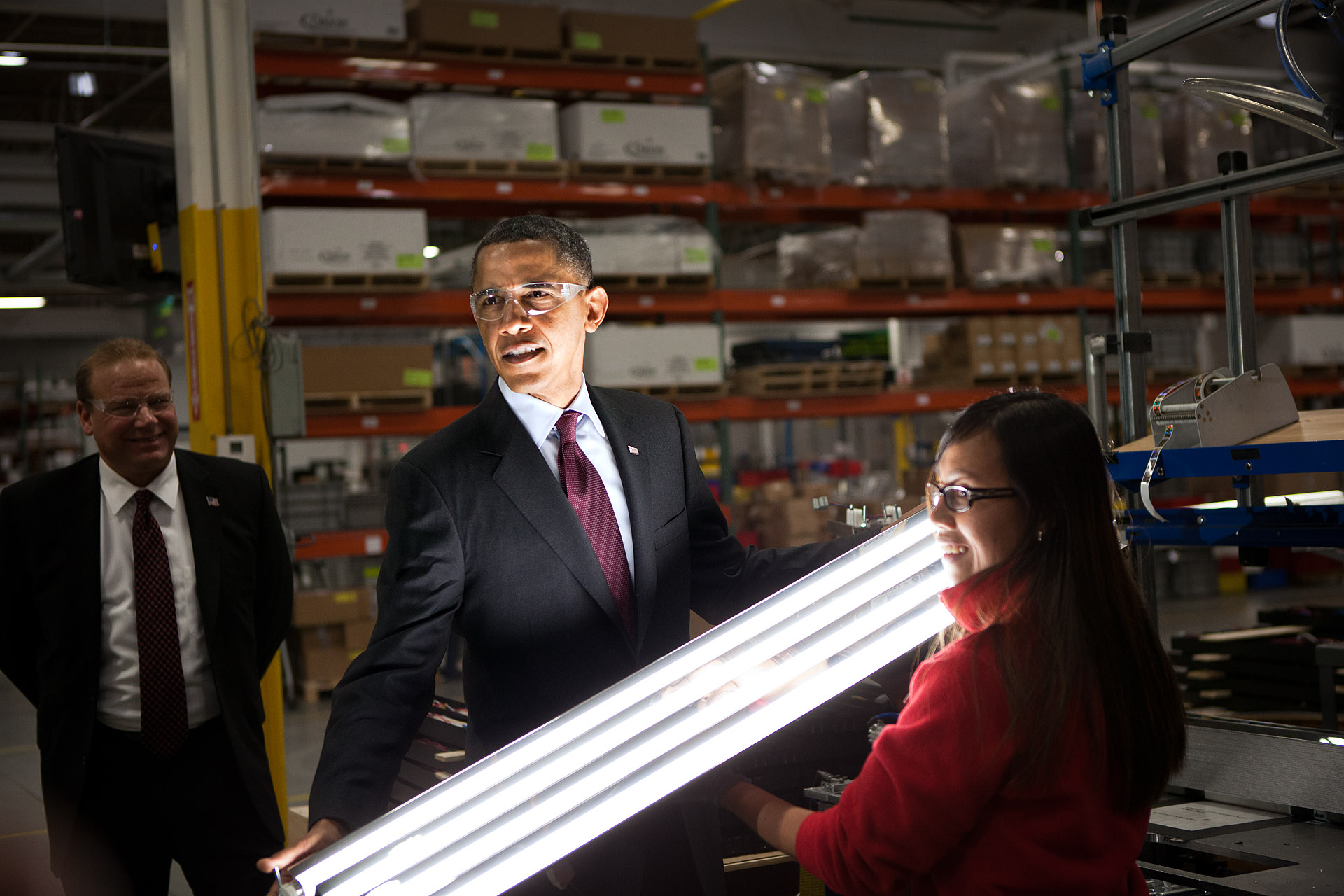 President Barack Obama Tours Orion Energy Systems, Inc