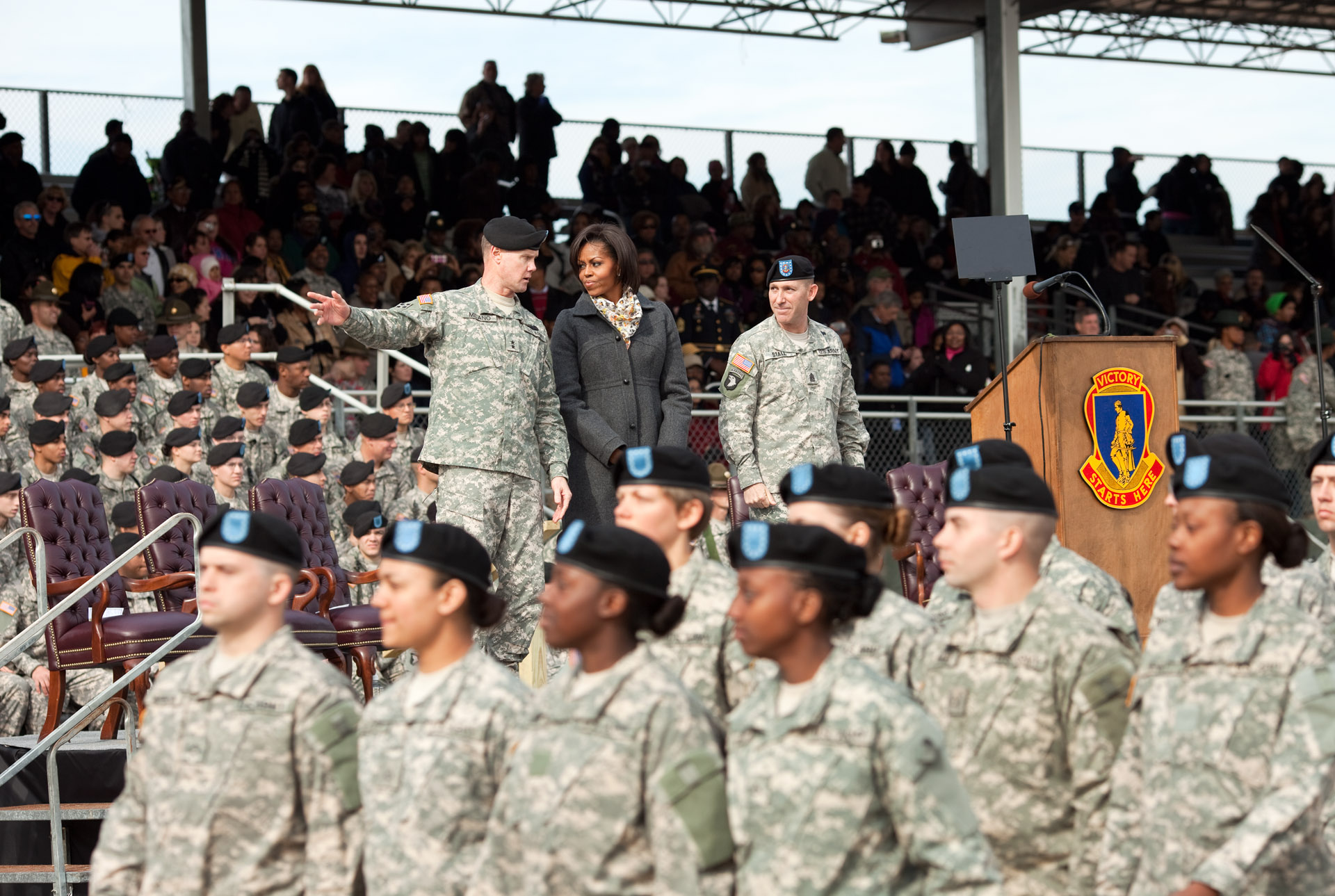 First Lady Attends Basic Training Graduation