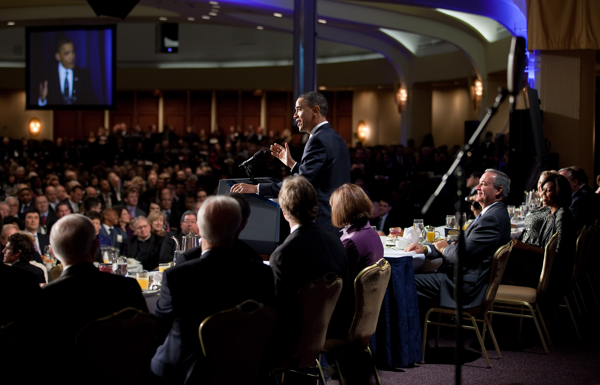 President Obama at the National Prayer Breakfast