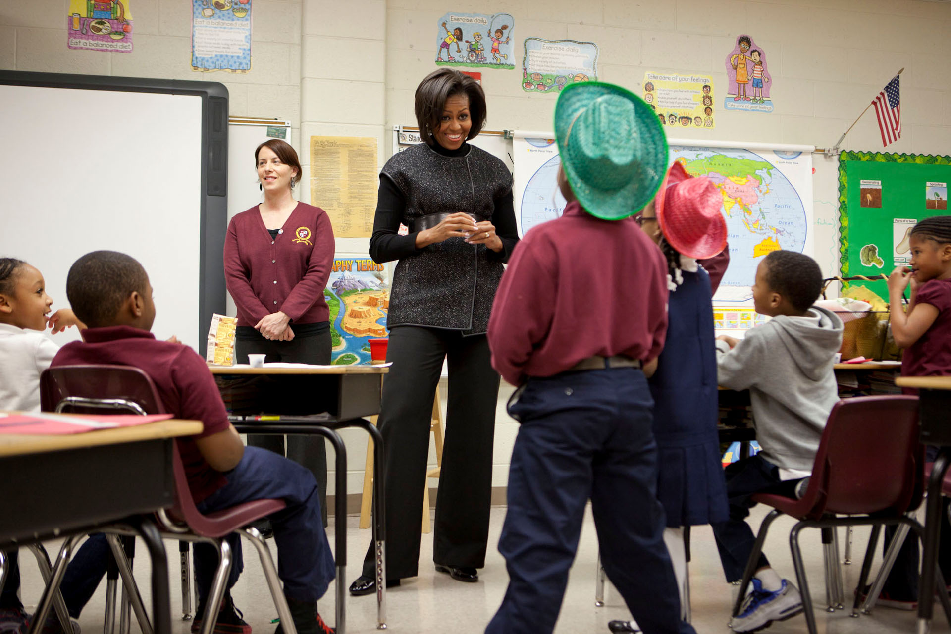 First Lady Michelle Obama Visits the Burgess-Peterson Academy in Atlanta