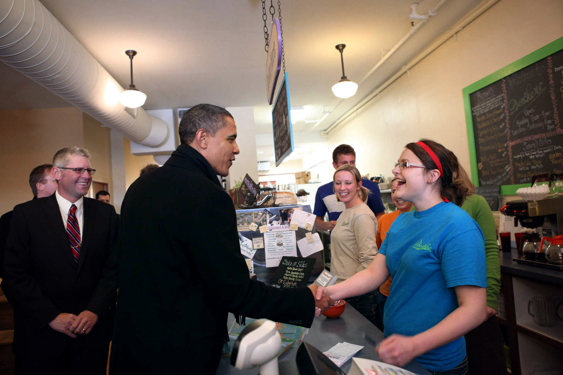 President Obama Meets Workers in Michigan