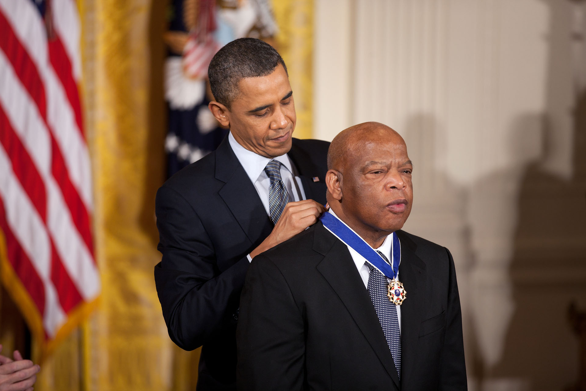 President Barack Obama awards the 2010 Presidential Medal of Freedom to John Lewis