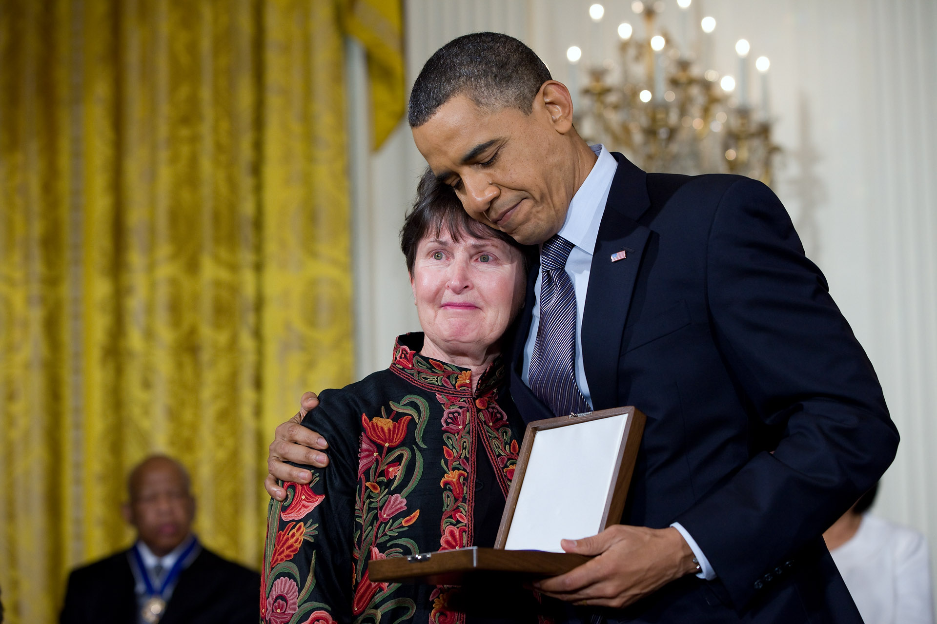 President Barack Obama awards the 2010 Presidential Medal of Freedom to Libby Little