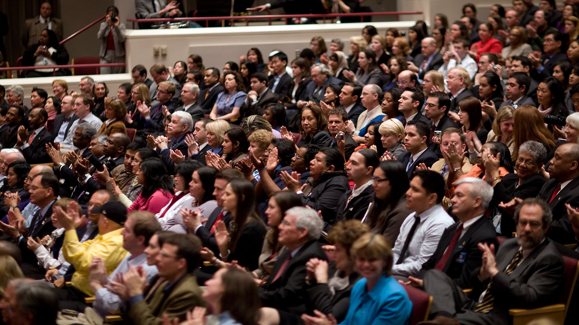 Members of Audience During Health Care and Education Reconciliation Act of 2010