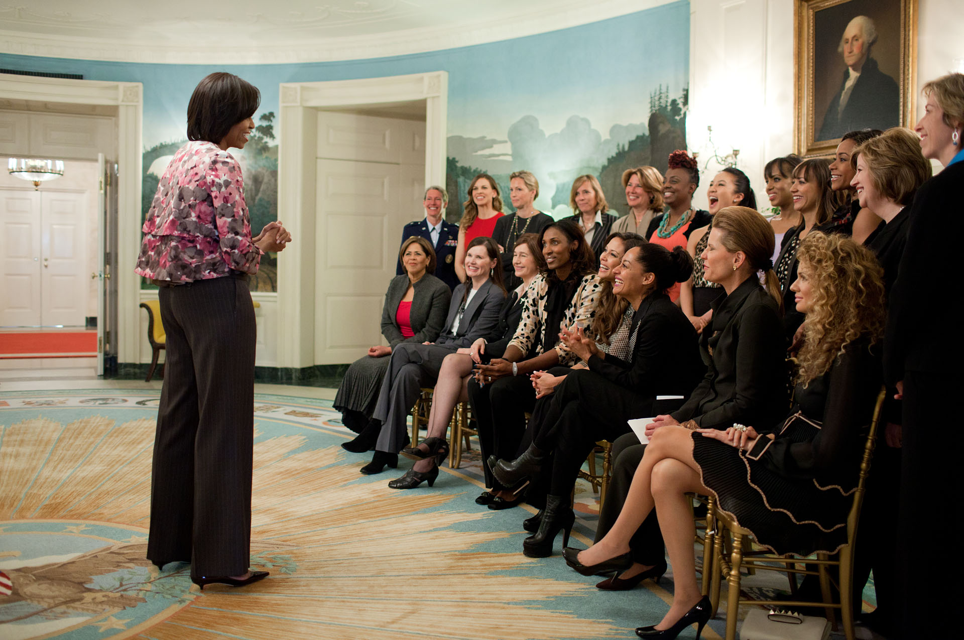 First Lady With Women Mentors