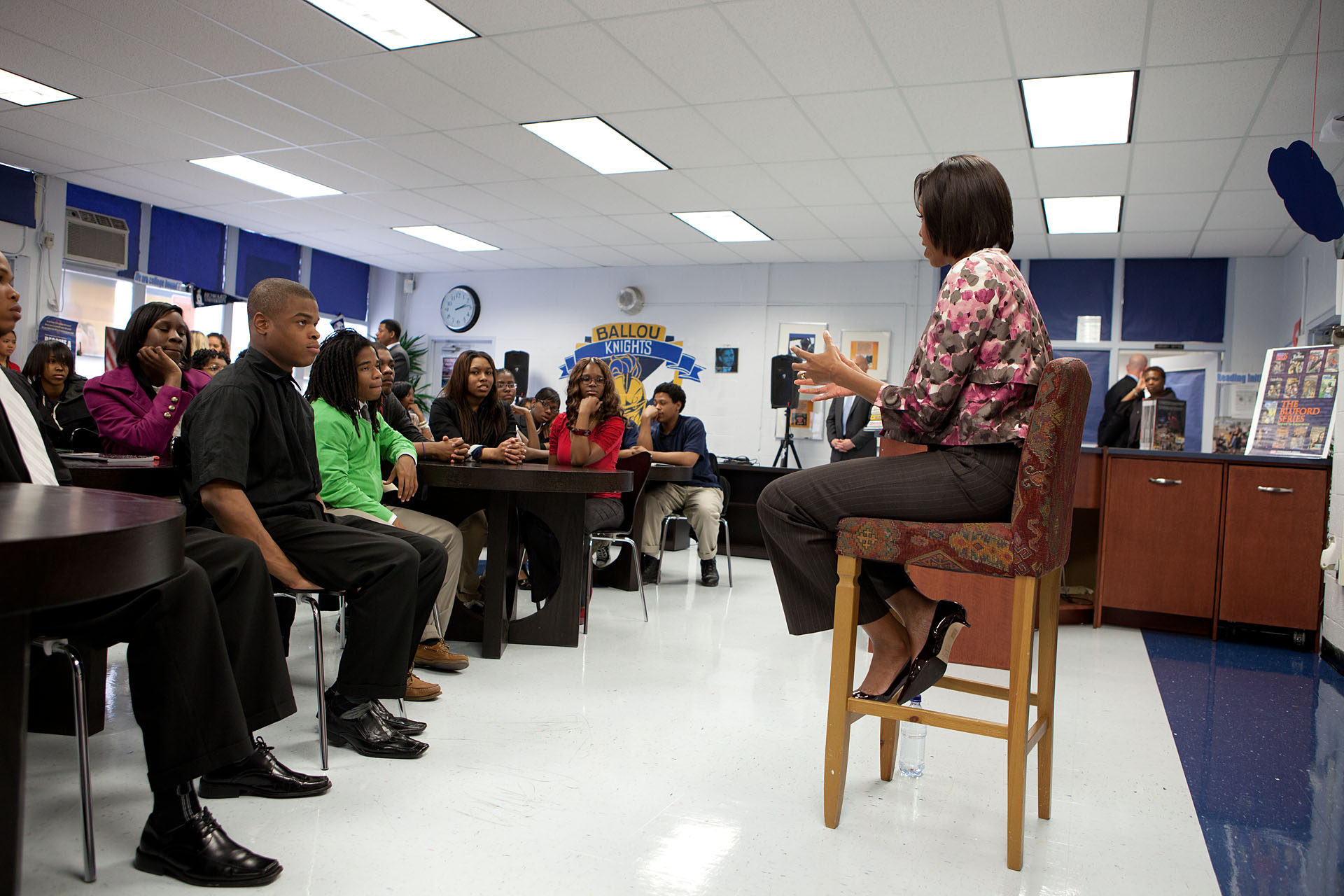 First Lady Speaks at Ballou High School