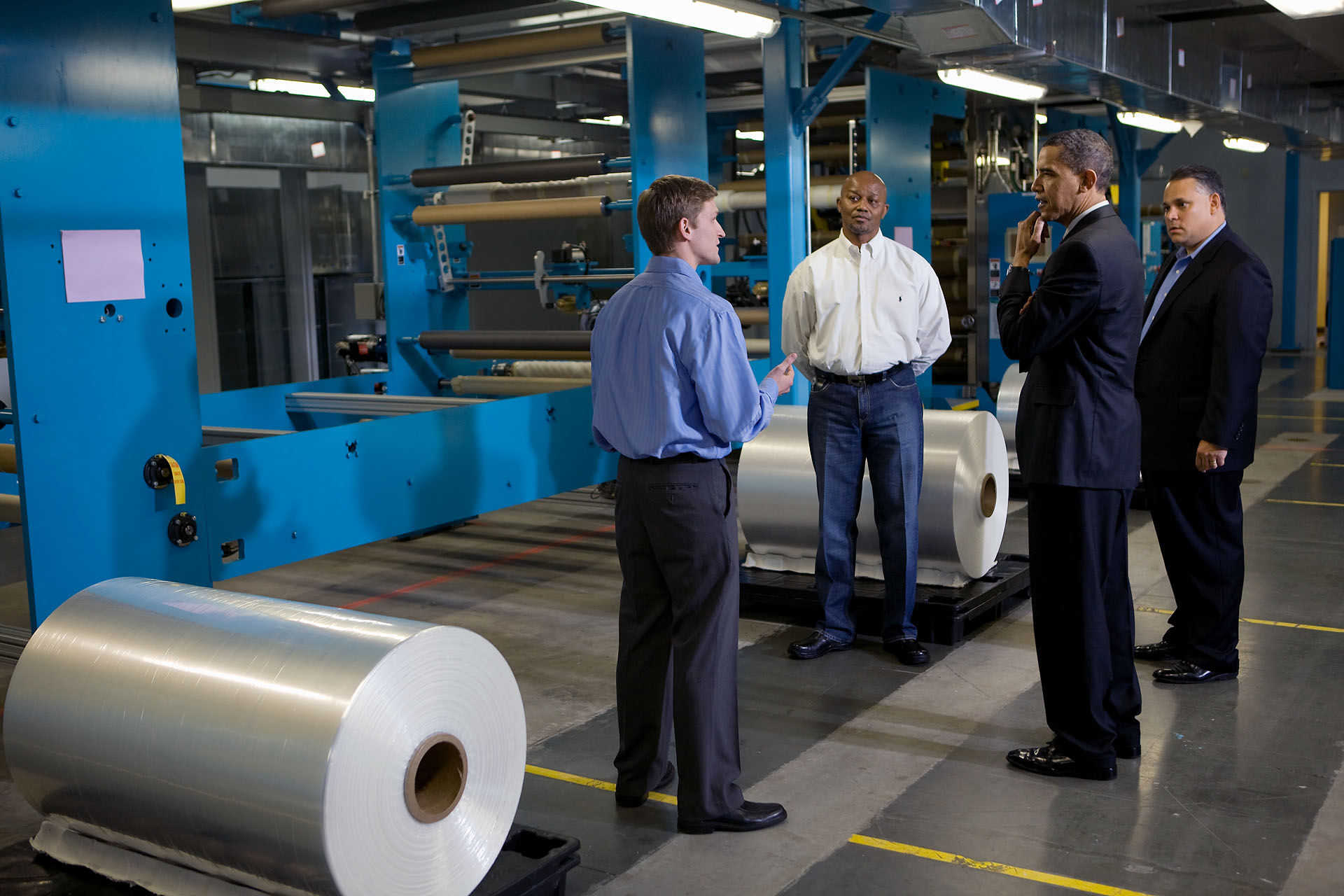 President Obama Tours Celgard Inc.