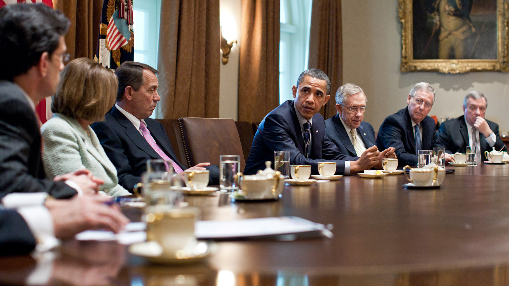 Obama And Cabinet A Meeting With Bipartisan Leadership On Fiscal Policy Whitehousegov