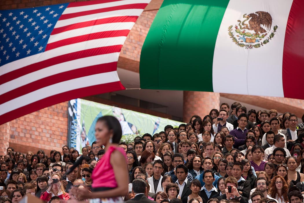 First Lady Michelle Obama in Mexico