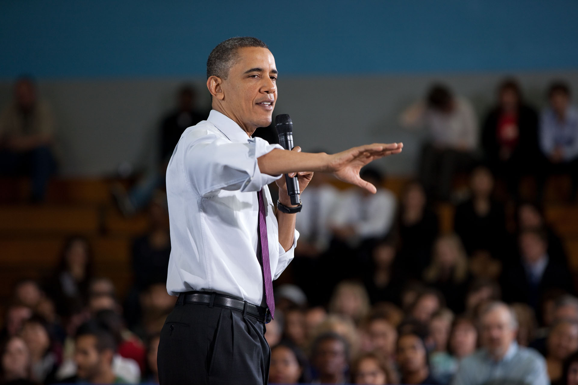 President Obama Talks Deficit Reduction at Northern Virginia Community College