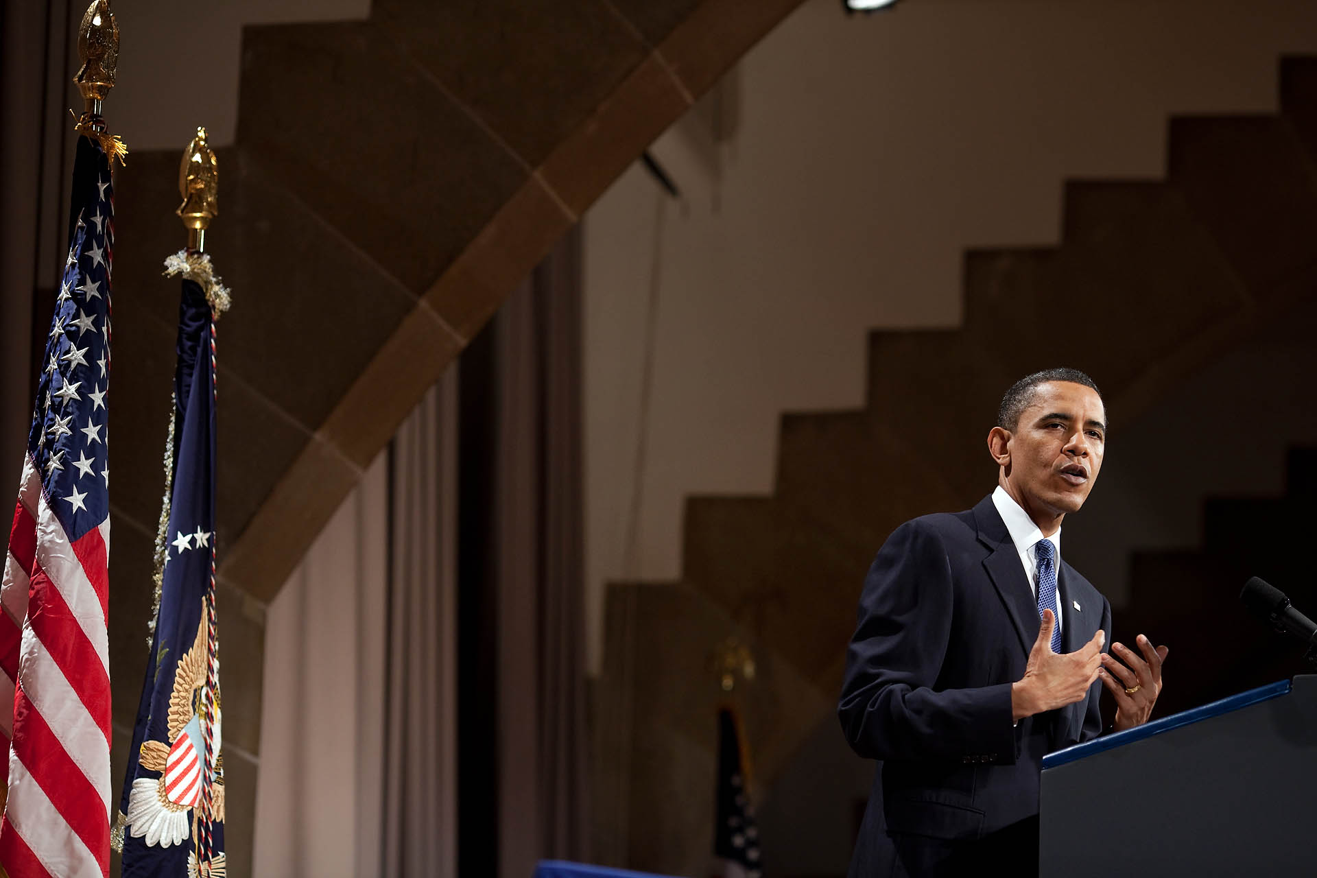 President Barack Obama delivers remarks on Wall Street reform