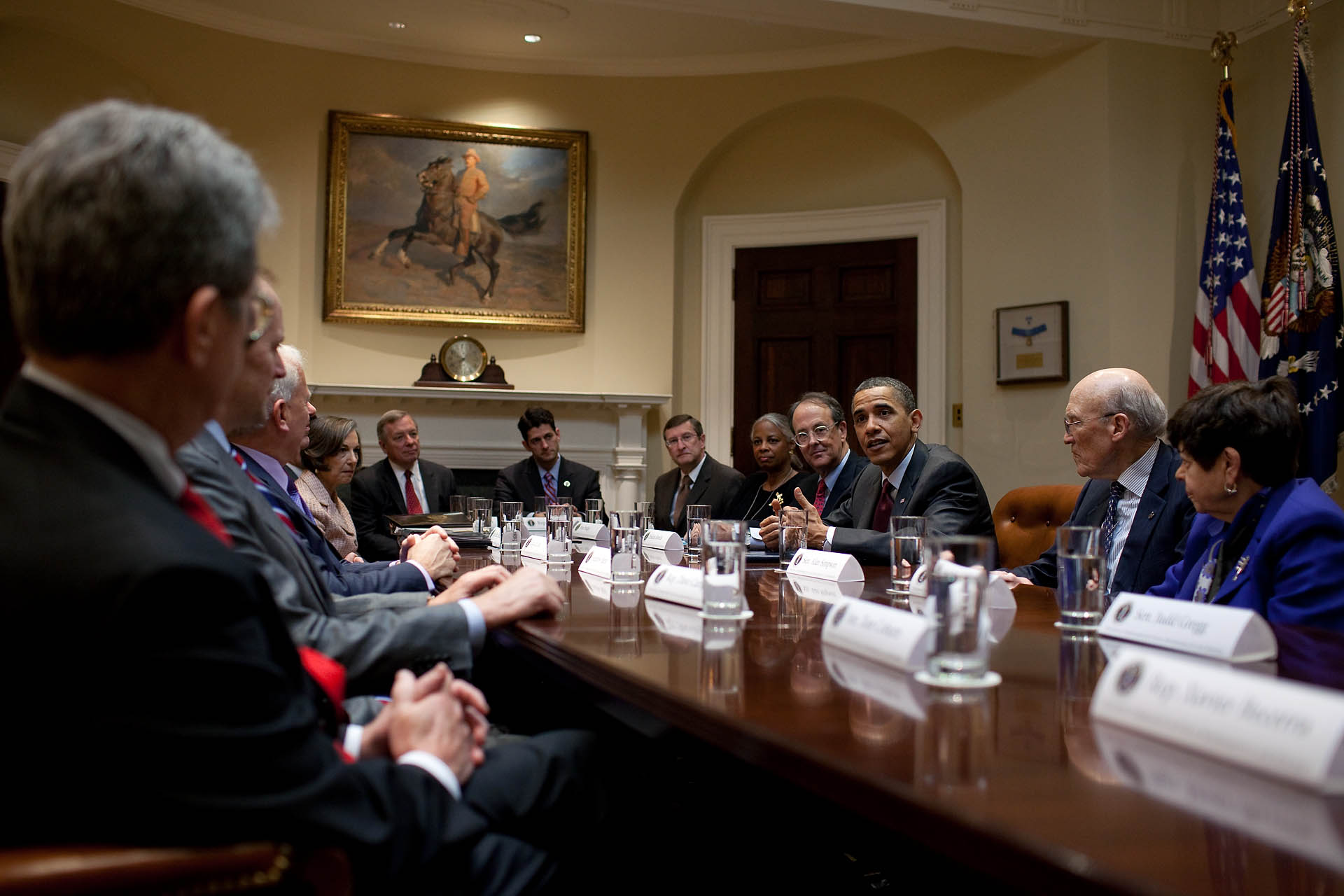 President Obama Meets with National Commission on Fiscal Responsibility and Reform
