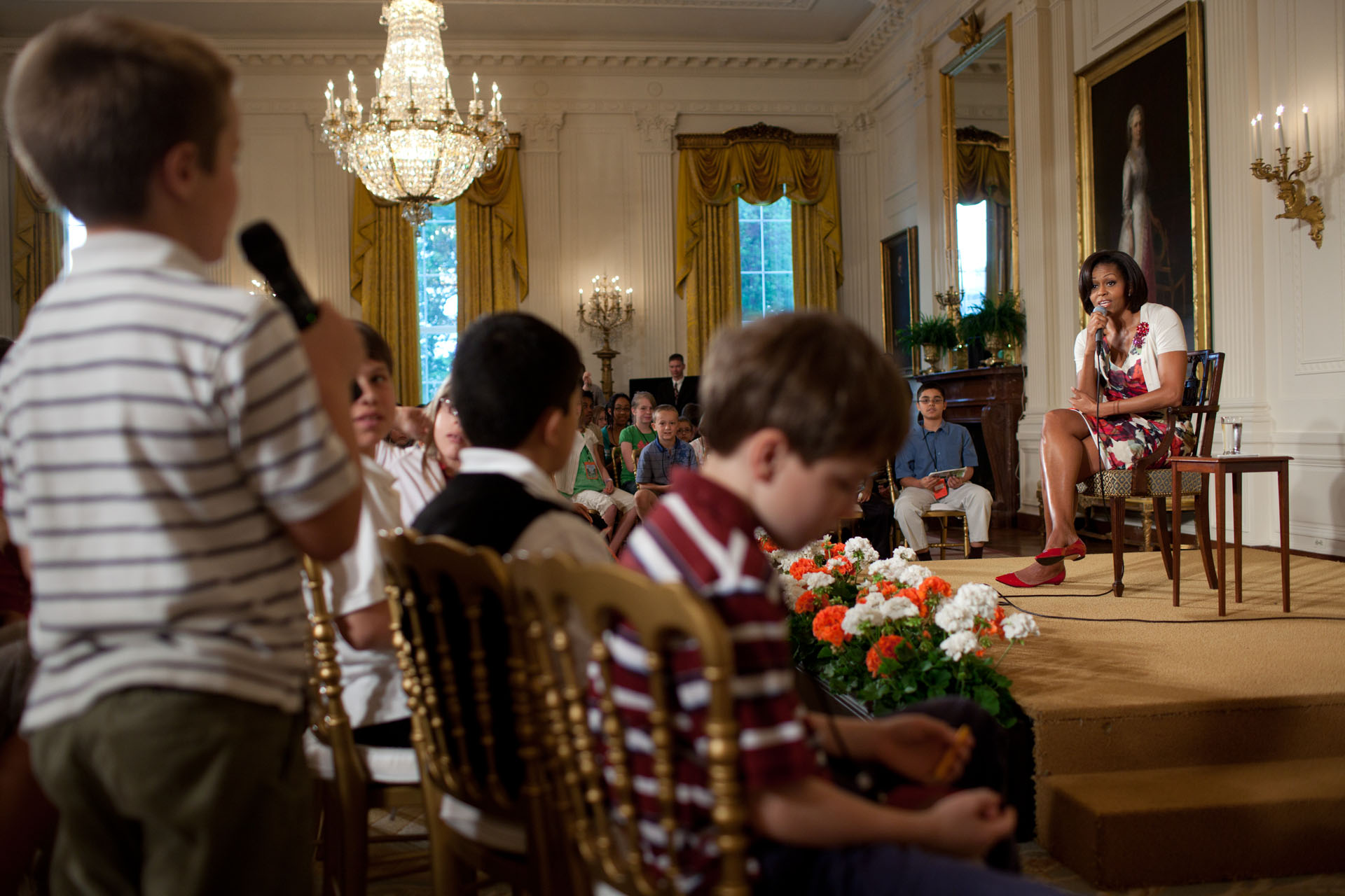 First Lady Michelle Obama answers questions on