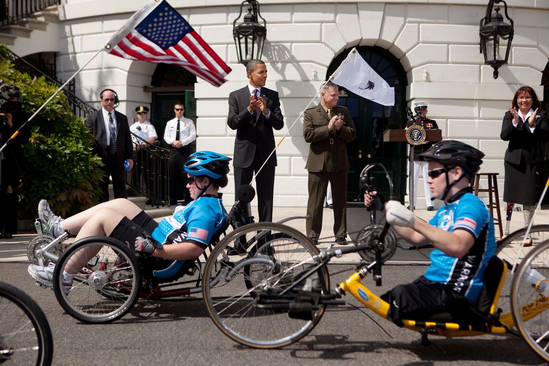 President Obama at Soldier's Ride